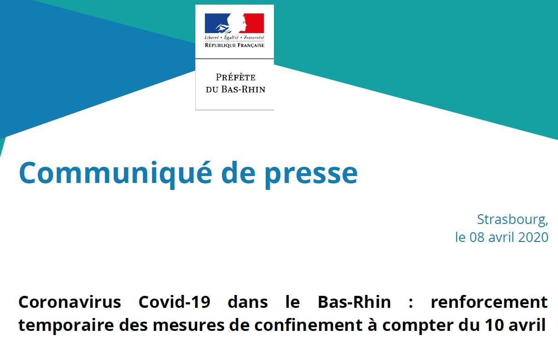 Communiqué presse COVID 19