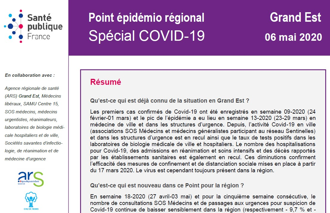 Covid situation en Grand Est